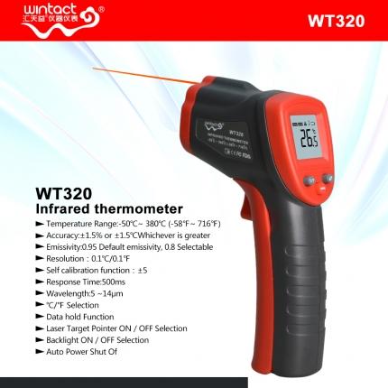 ترمومتر لیزری WT320 برند WINTACT