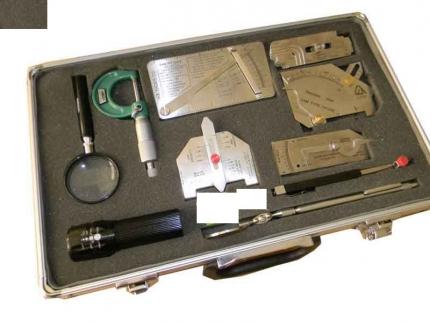 کیف تجهیزات بازرسی چشمی گیج کمبریج TWI