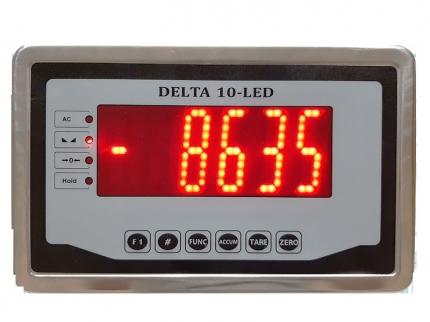 نمایشگر فراسو توزین مدل Delta-10 با بدنه استیل و صفحه نمایش LED