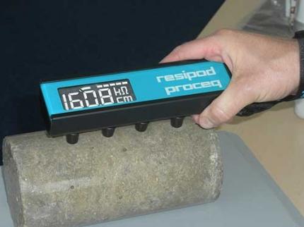 تعیین مقاومت الکتریکی بتن Resipod