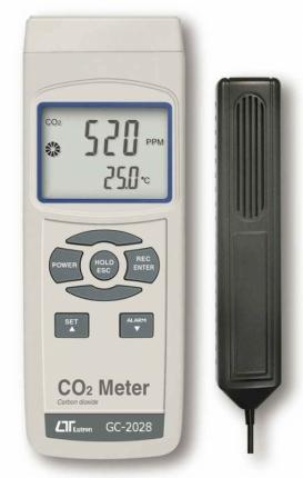 دماسنج و دی اکسید کربن لوترون مدل GC-2028