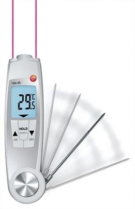 ترمومتر مواد غذایی لیزری و نفوذی تستو TESTO 104-IR